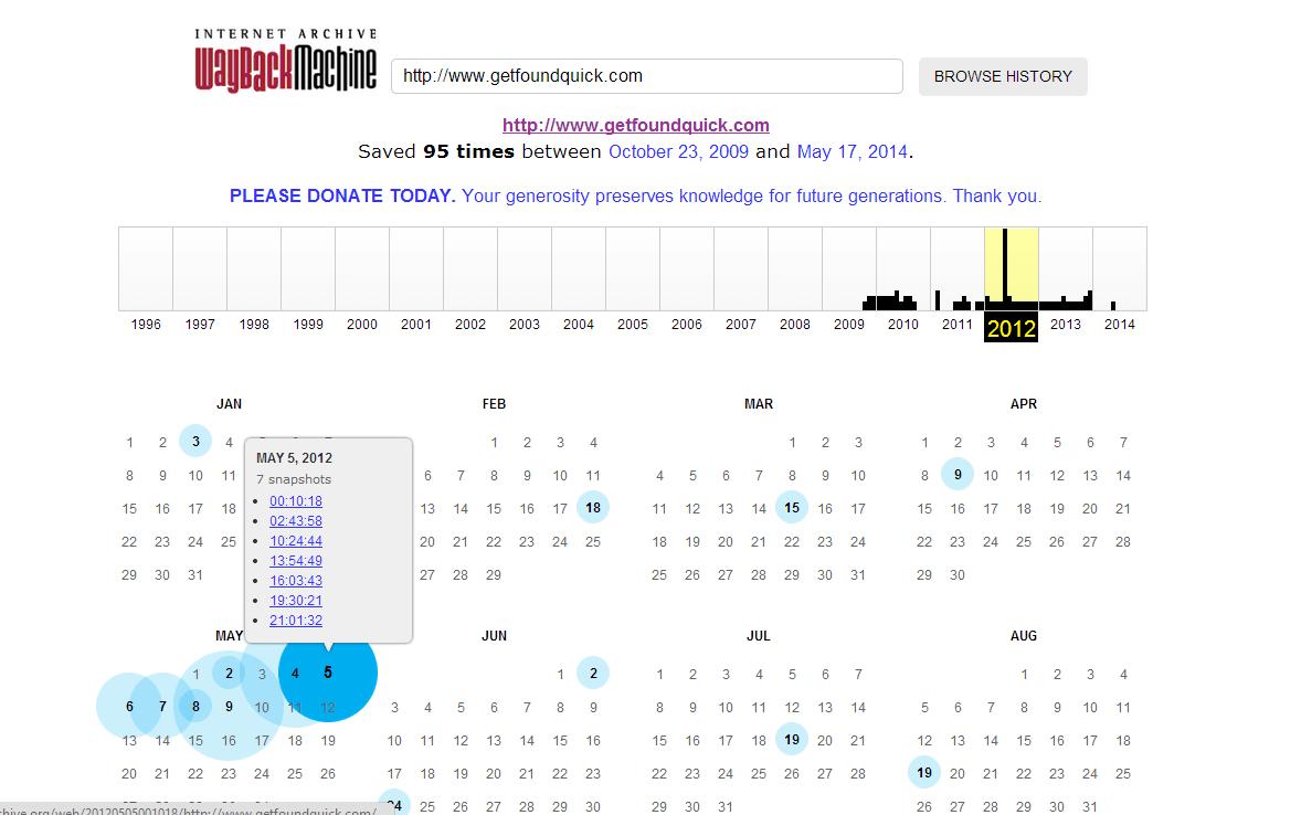 Website recovery program