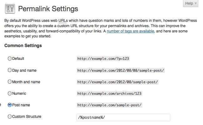 permalink-settings