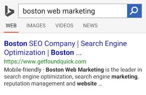 Boston Web Marketing Mobile Friendly