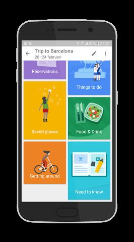 google app trips