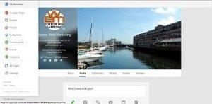 boston web marketing google+ page settings