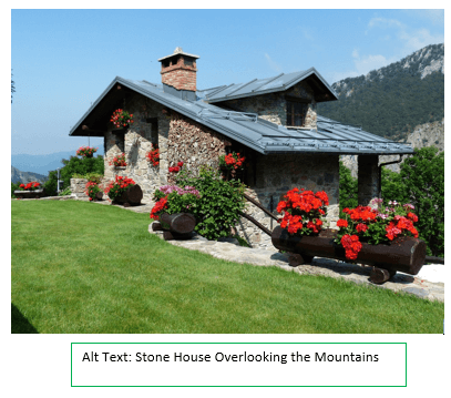 Stone House Overlooking the Mountains