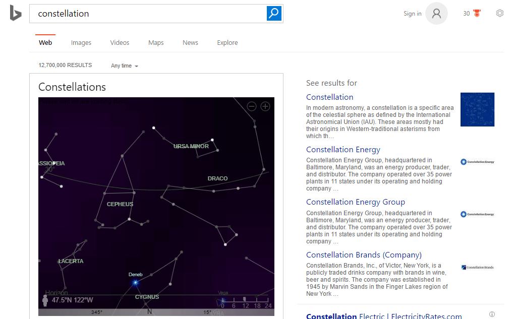 constellation-bing