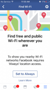 find free and public wi-fi