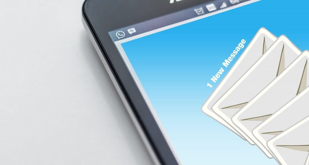 emails on a mobile device