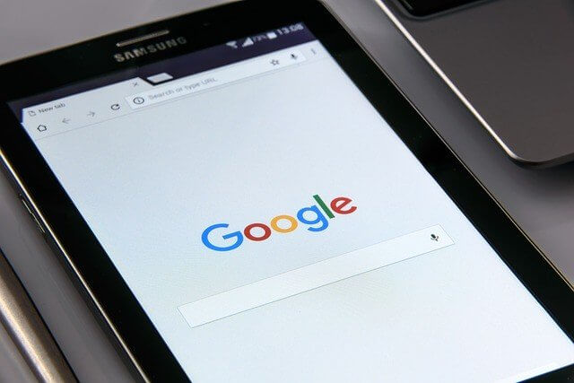 Google on the tablet