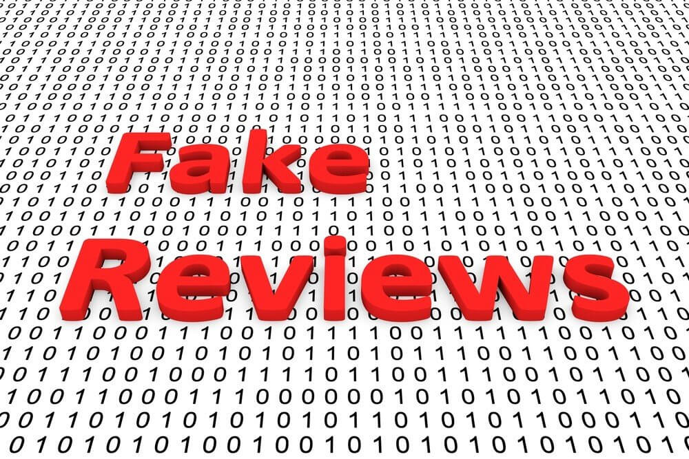 """""""Fake Reviews"""" written in binary numbers."""