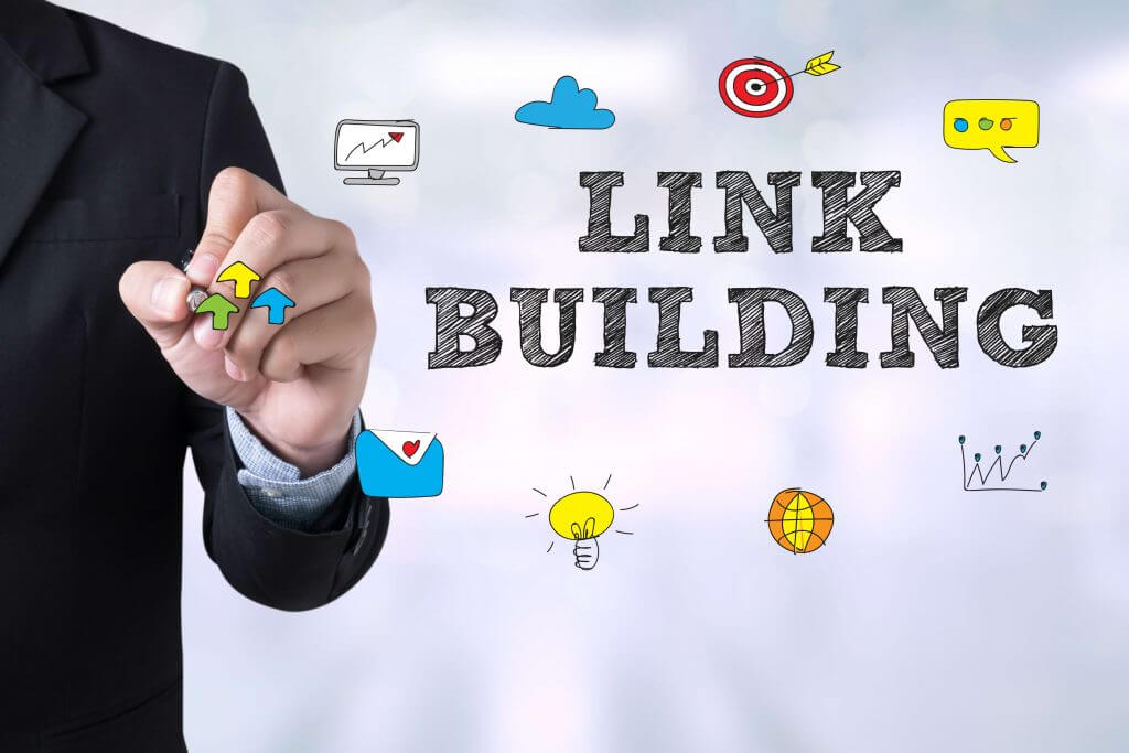 man drawing link building animations