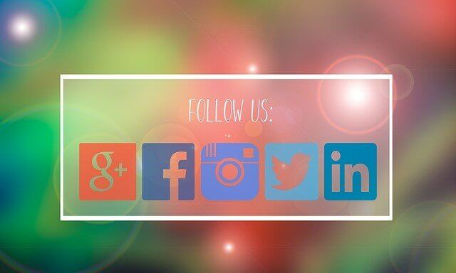 Google+, Facebook, Instagram, Twitter, LinkedIn icons