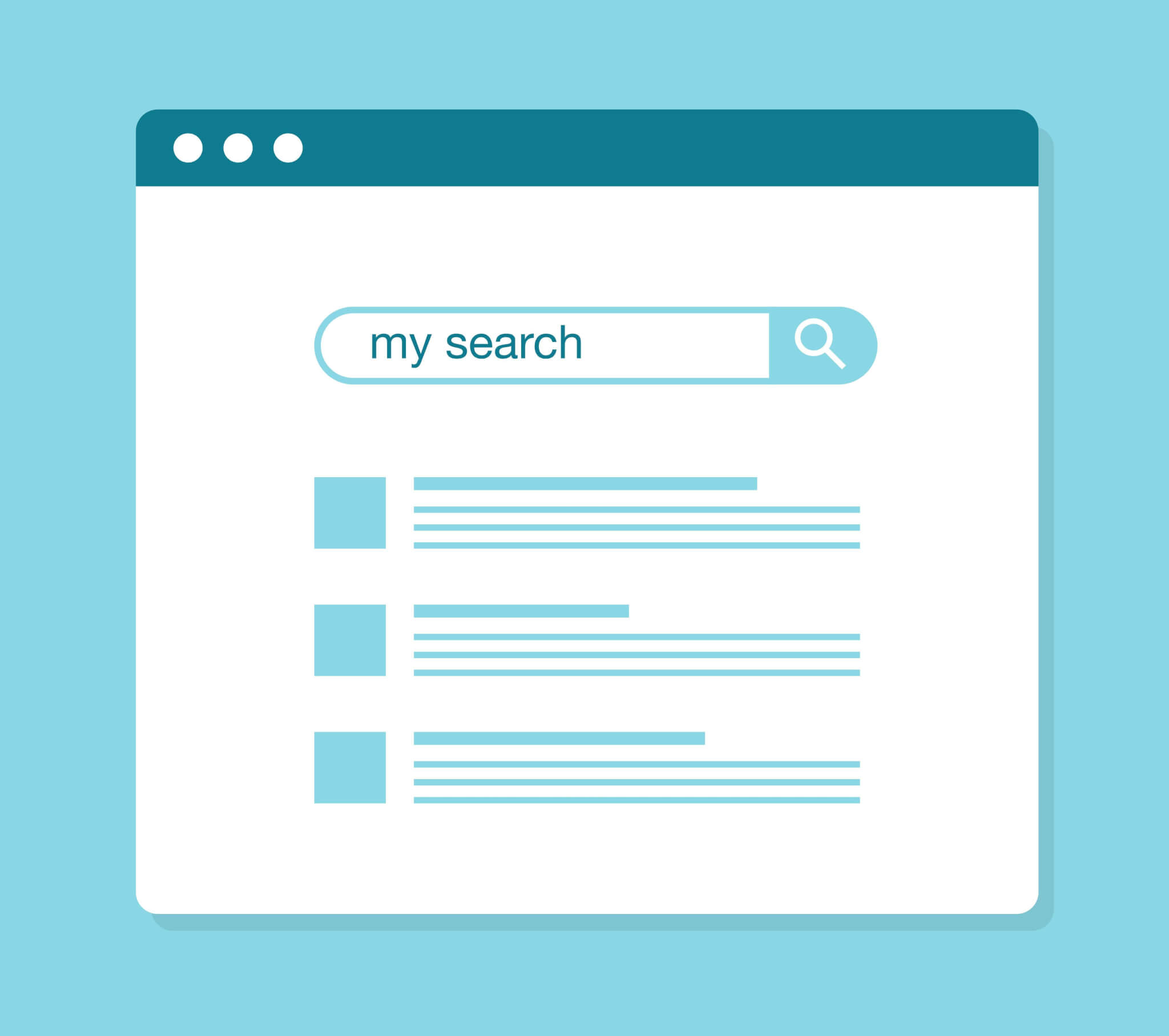 Search engine results in a graphic