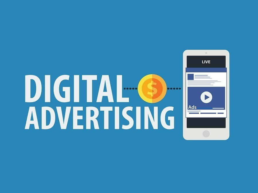 Graphic of Digital Advertising and cell phone