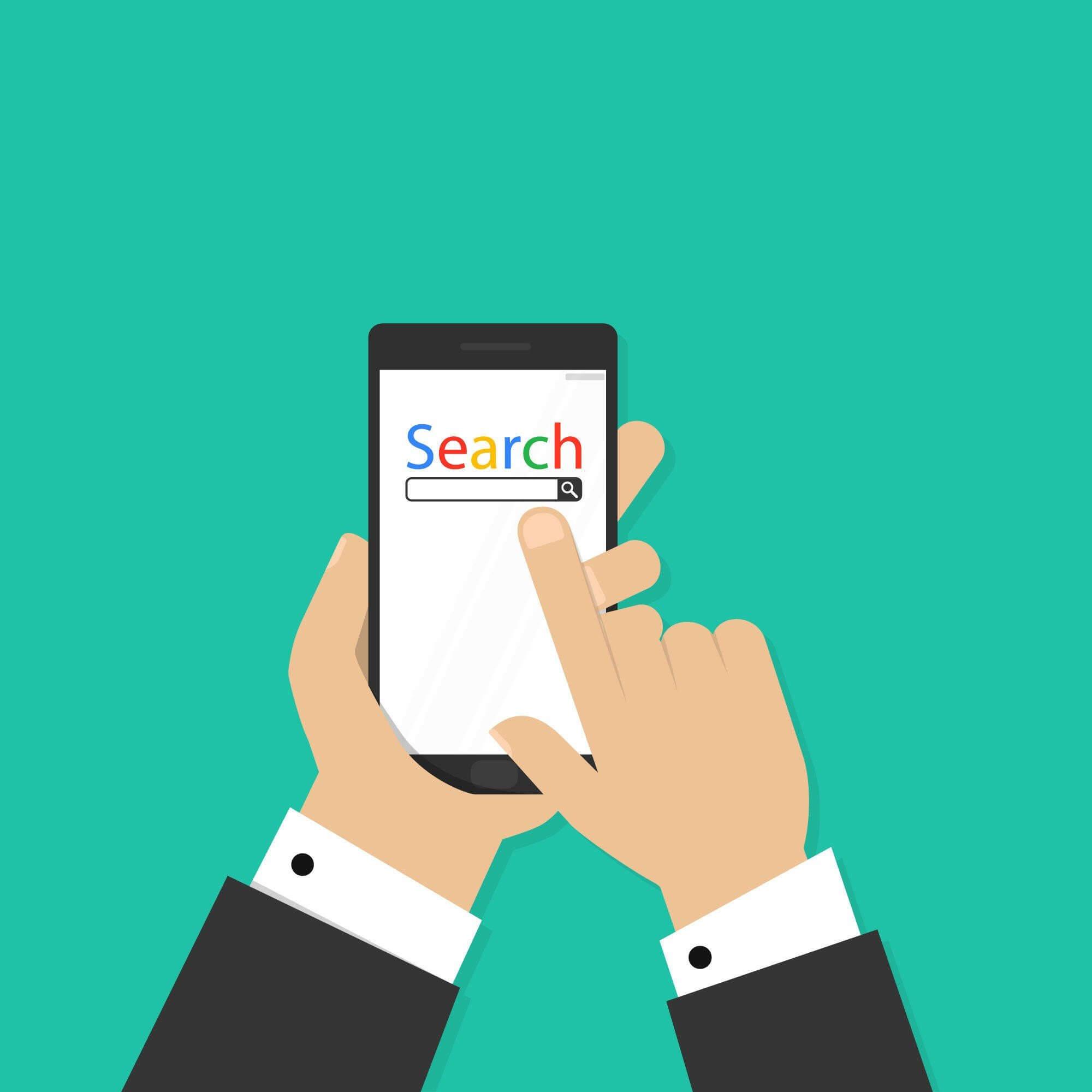 animated photo of man using Google search bar