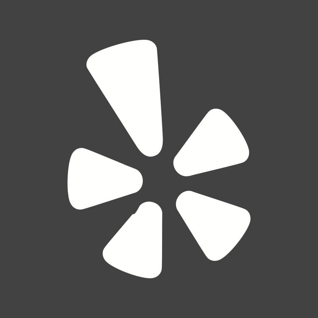 Grey and white Yelp icon