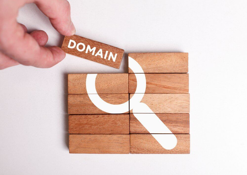 domain block attaching to blocks forming search icon