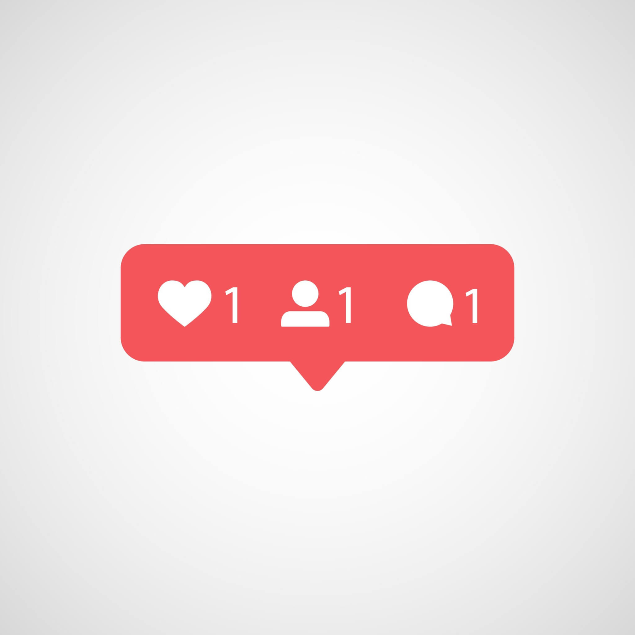 social media like, follow and comment icons