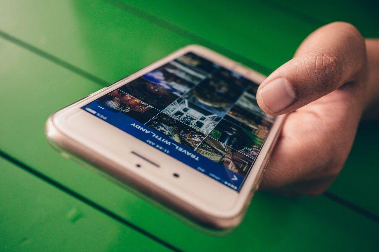 phone with instagram app open