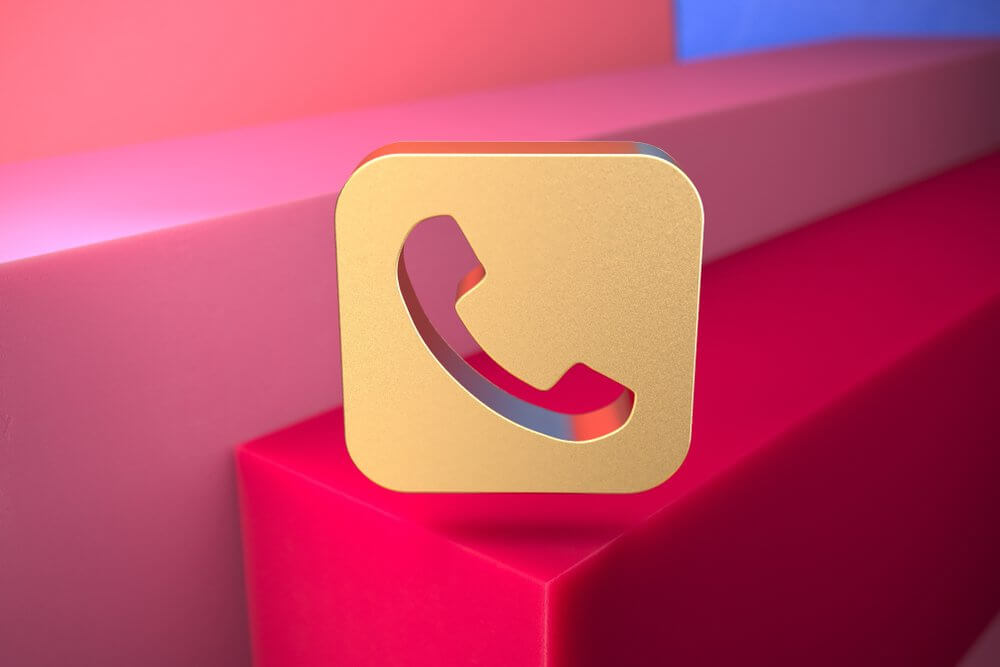 call now button on 3D background