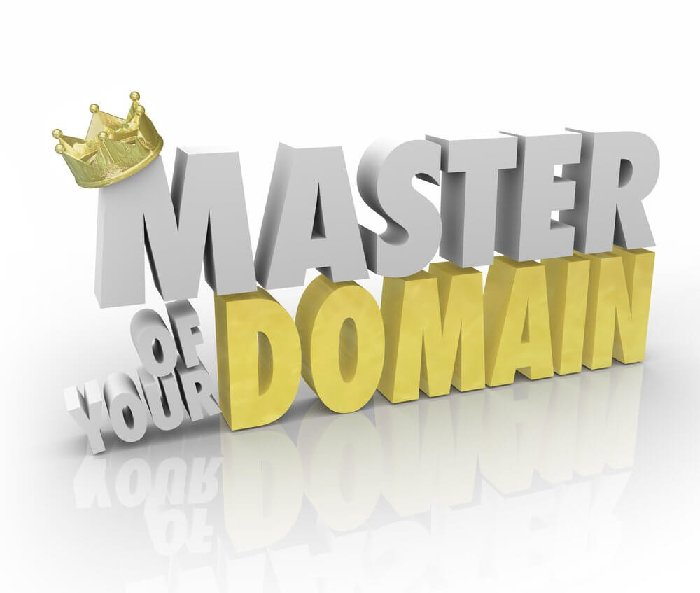 master of your domain graphic with crown