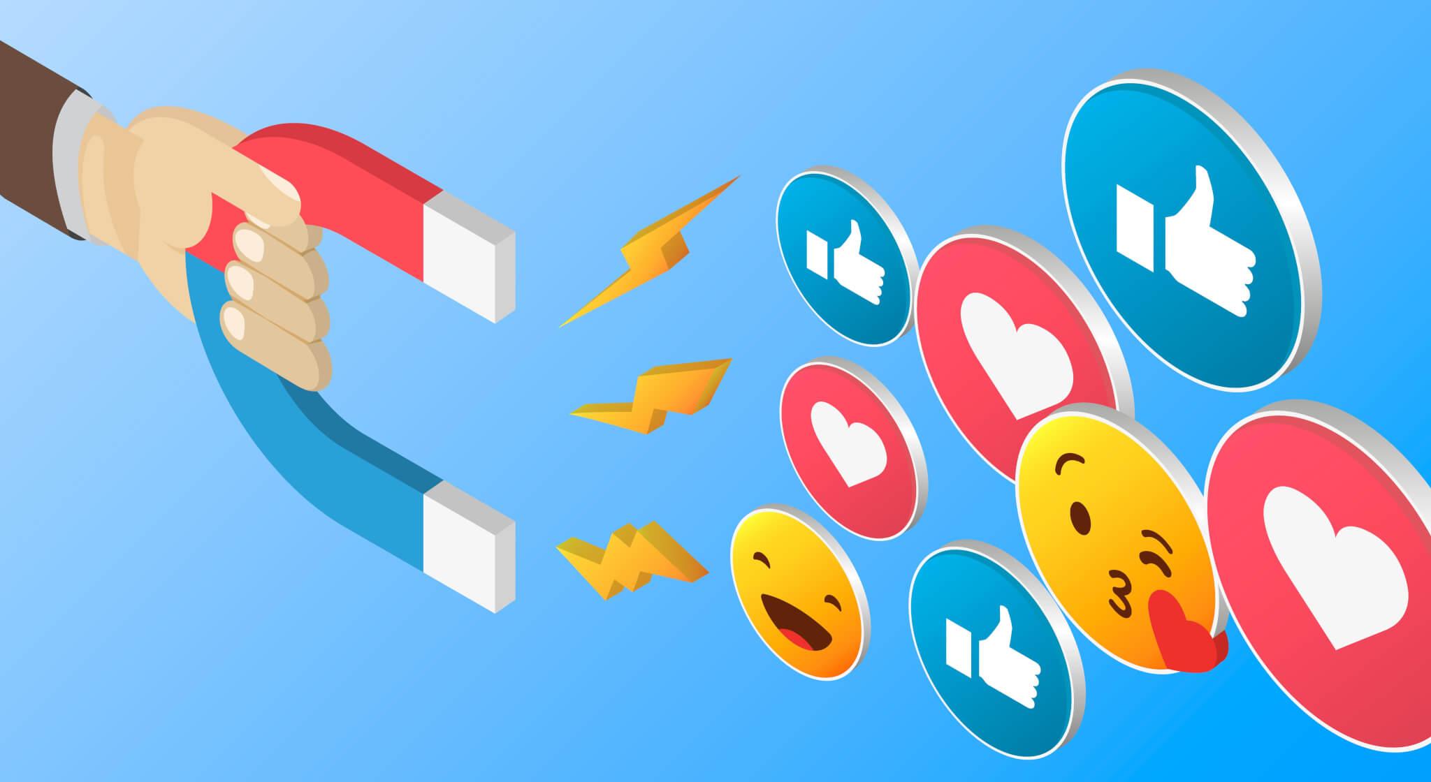 magnet and emojis