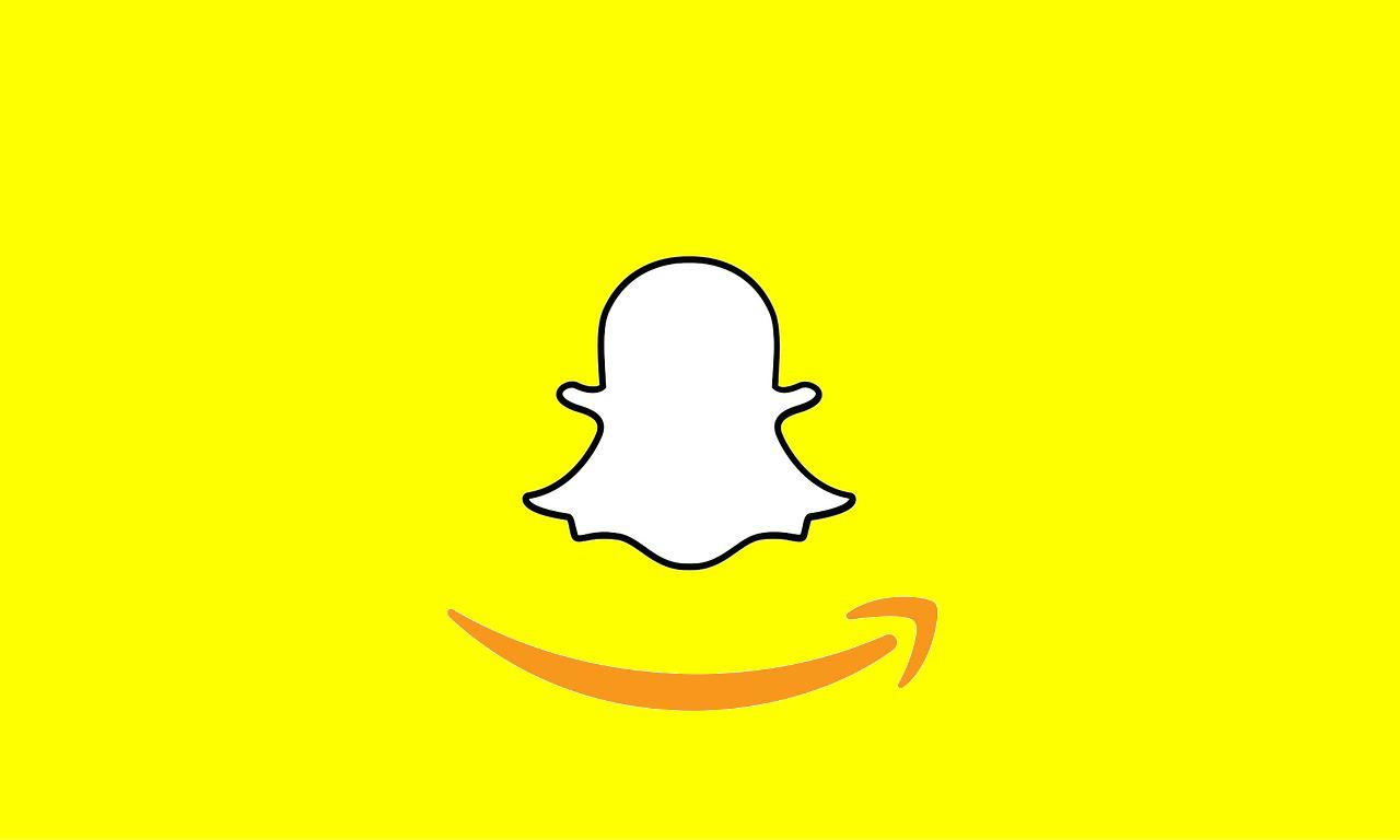 amazong and snapchat logos mixed as one