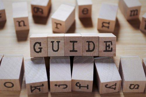 guide written in wooden blocks