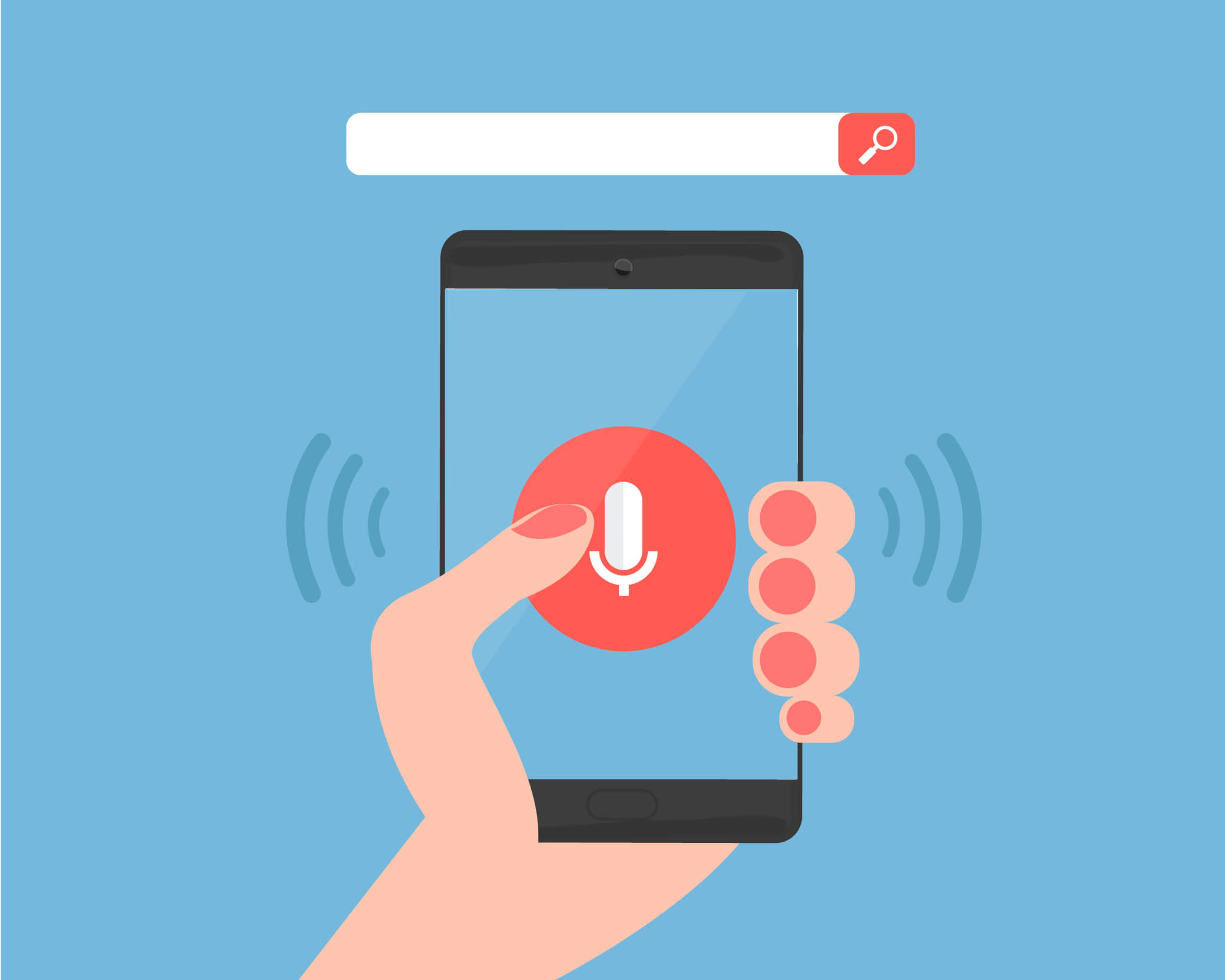 activate voice search on mobile