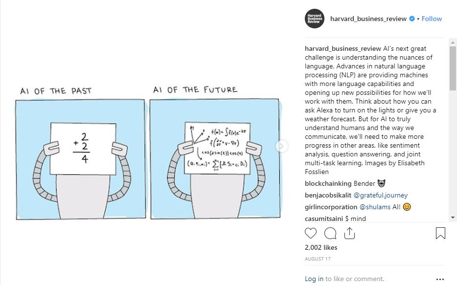 harvard business review instagram post