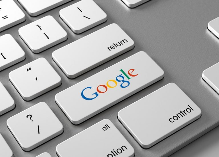 Keyboard with Google key instead of an Enter key