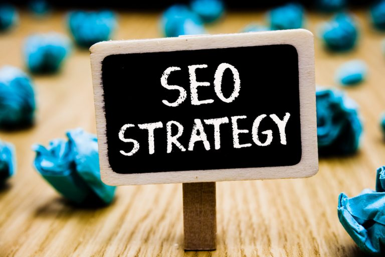 SEO Strategy Sign