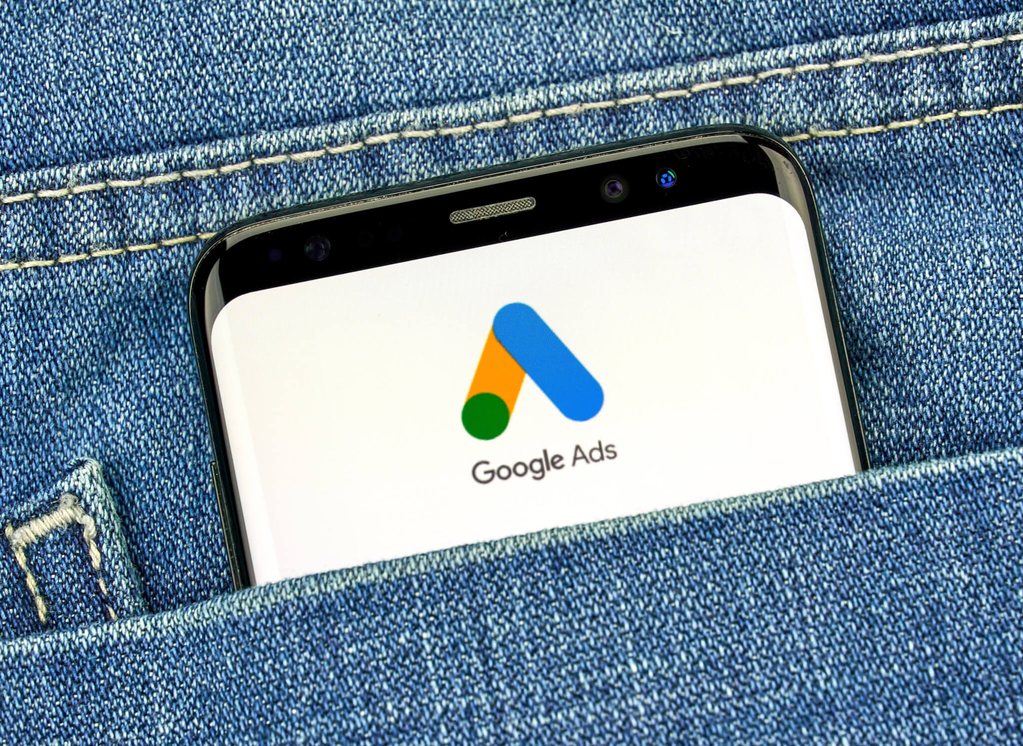 phone with google ads logo