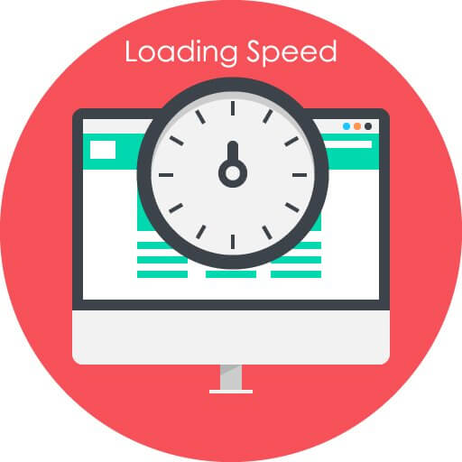 Loading Speed Clock Computer Screen