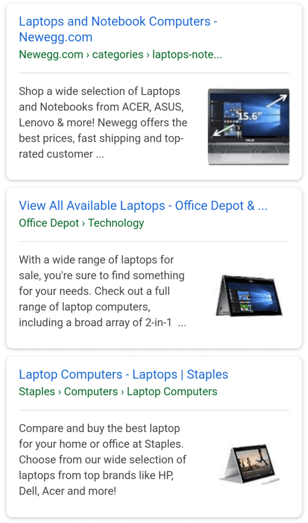 More thumbnail images are showing in mobile search results