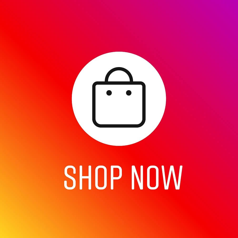 shop now icon on top of instagram background