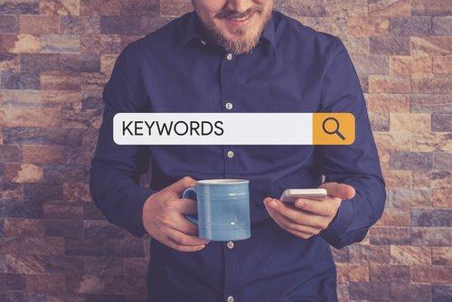 keywords entered into search bar