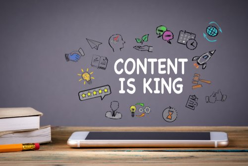 content marketing image of ideas and engagement