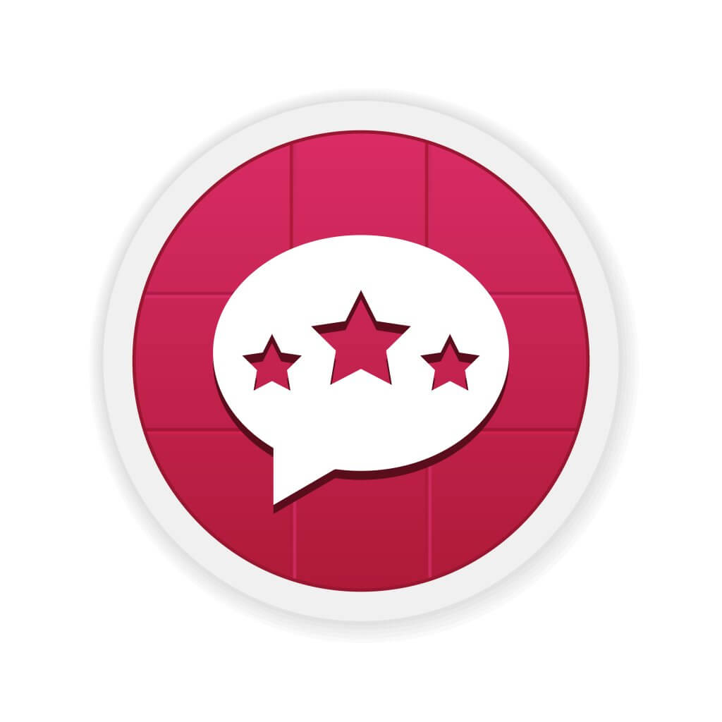 review bubble in red circle