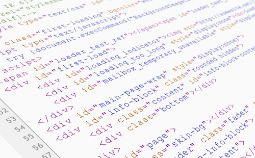 An image of HTML code that could be used to make a schema markup