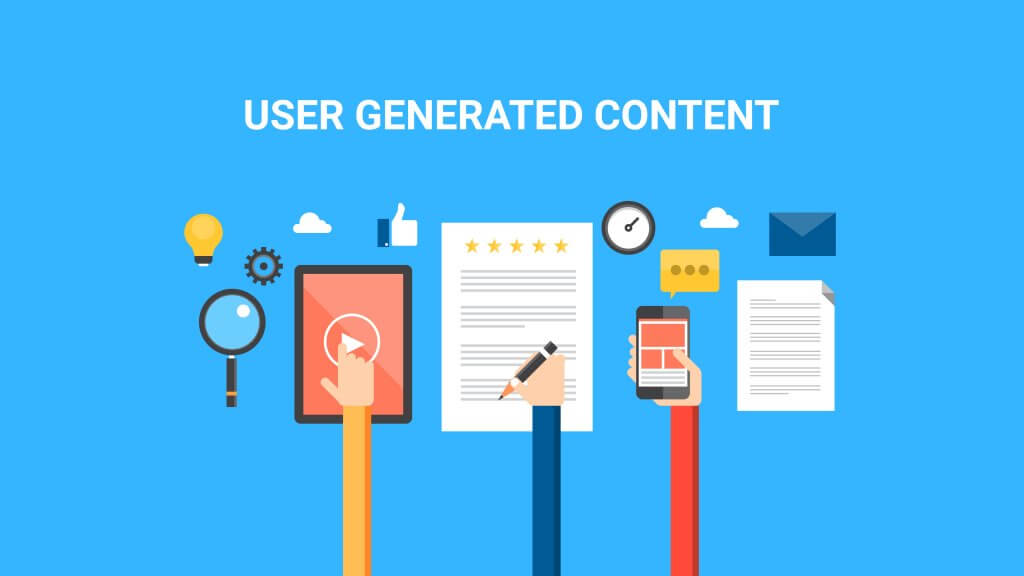 concept for user generated content in video, text and images