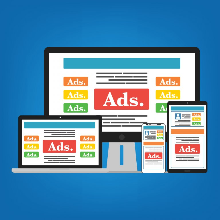 online ads on mobile and desktop devices