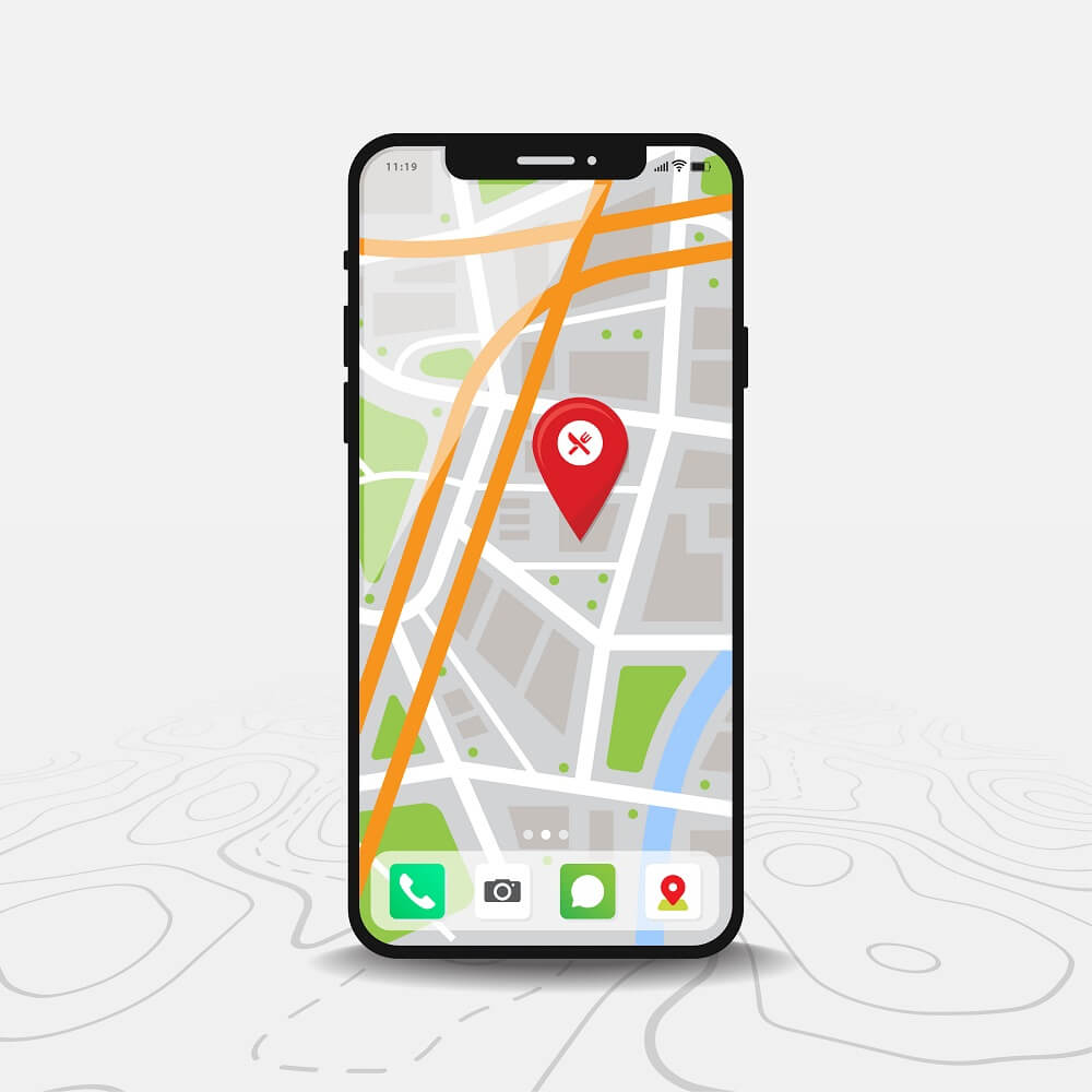 A Google Map on a phone