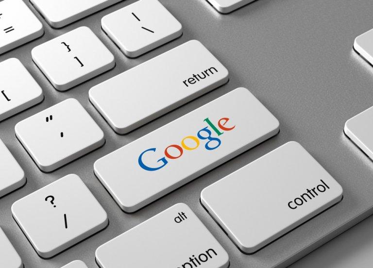 google on a keyboard