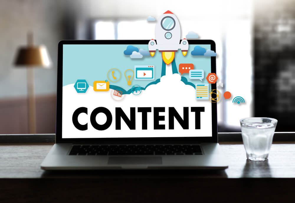 types of content displayed on laptop
