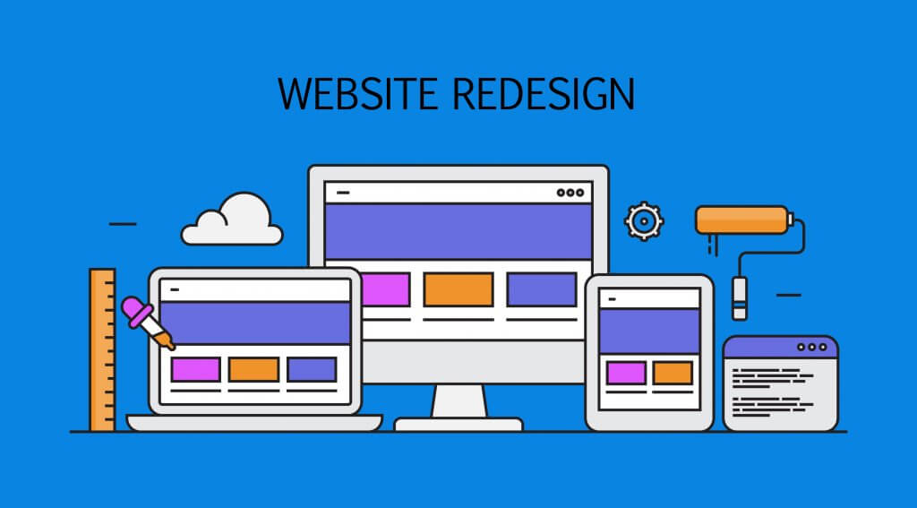 website design on different devices