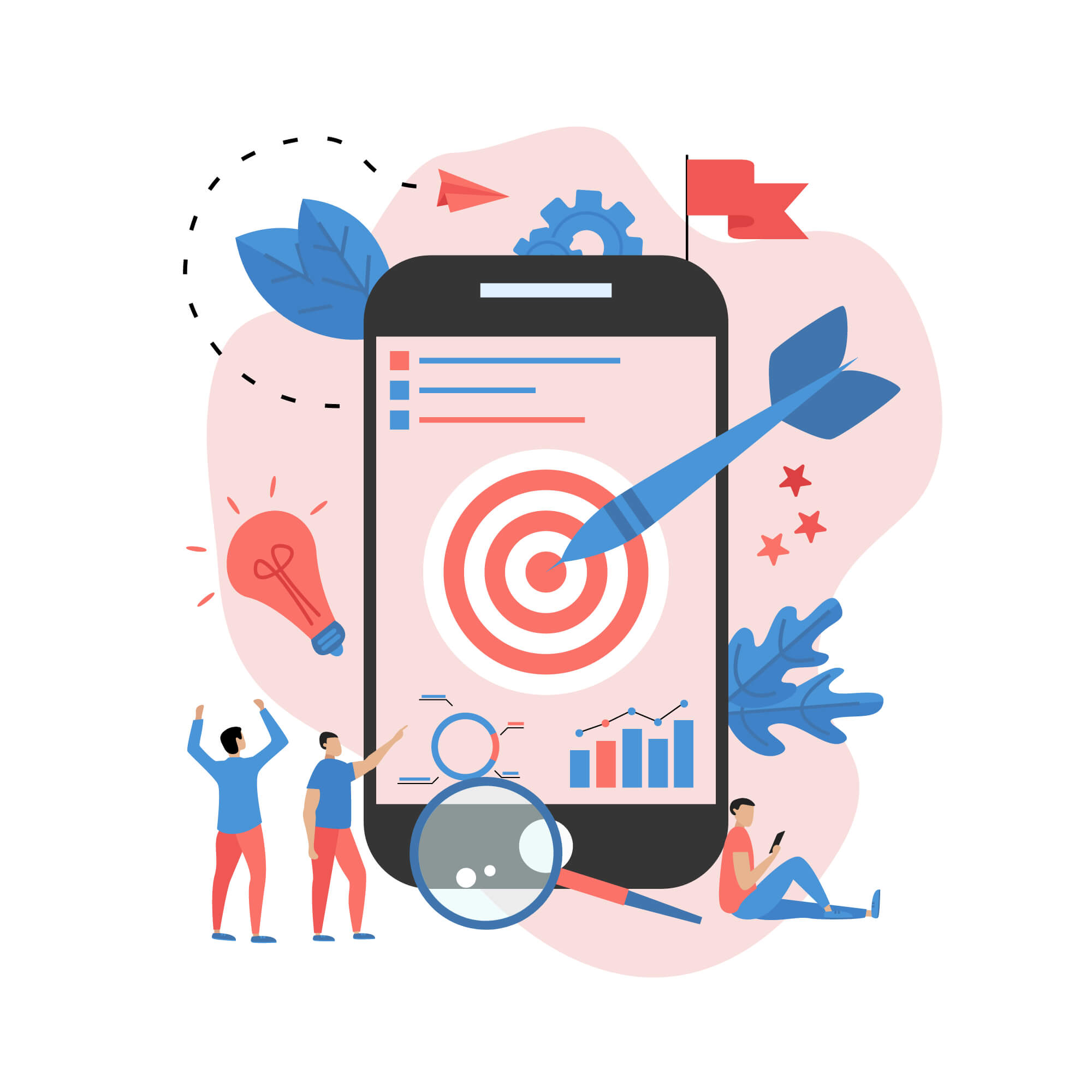 targeted audience on mobile phone