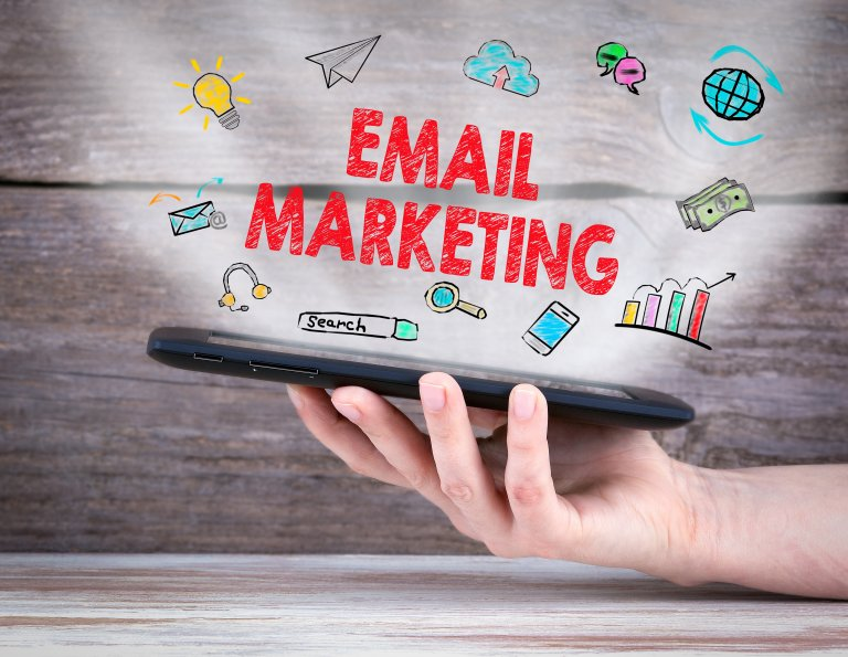 phone with email marketing
