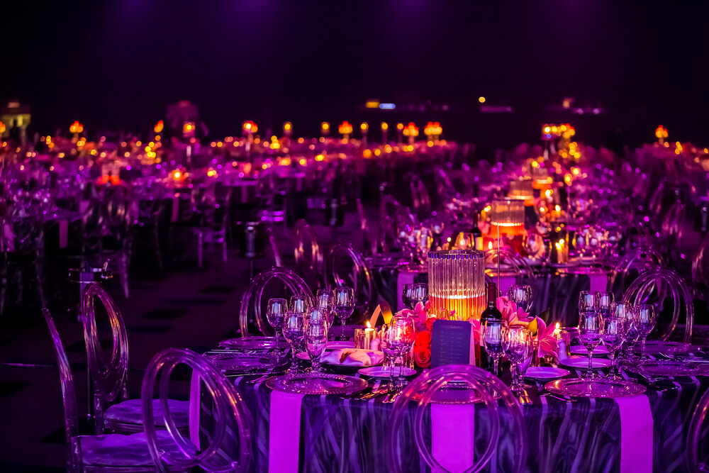 event setup with tables
