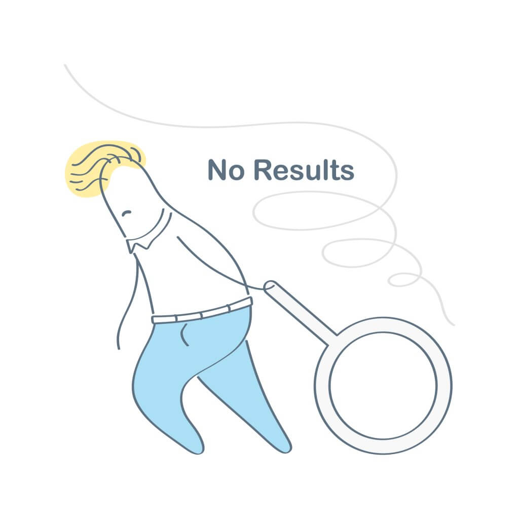 no results
