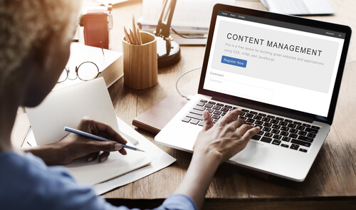Managing content on a website