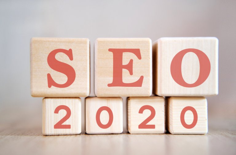 wooden blocks that spell out seo 2020
