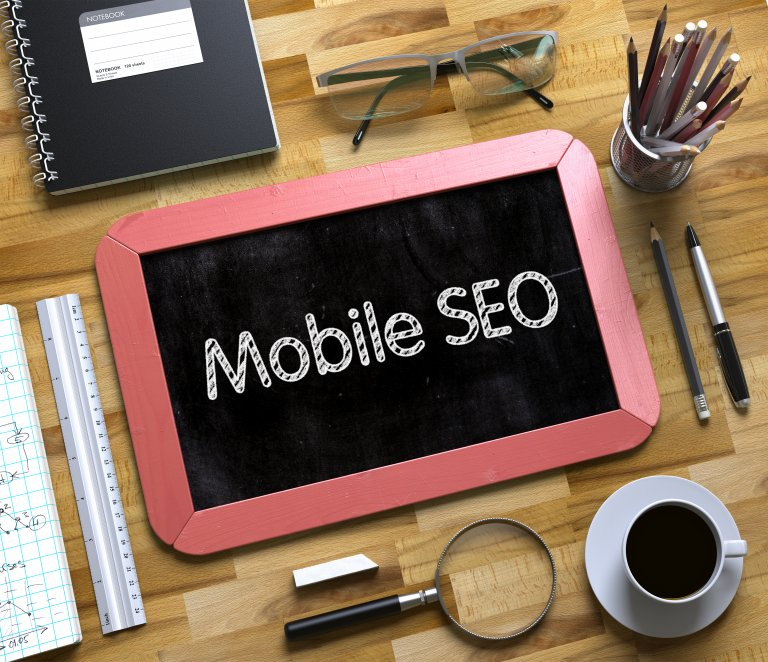 mobile seo written on tablet